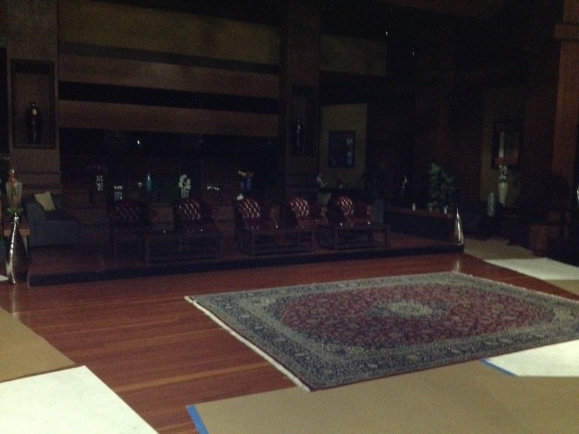 Set of Shark Tank just before filming begins on Season 4