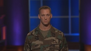 Major Rob Dyer making his pitch on Shark Tank